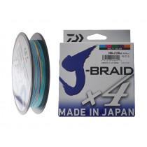 Daiwa X4 J-Braid Multi-Colour 300m
