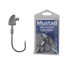 Mustad Soft Plastic Lead Jig Heads