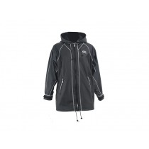 Aropec Waterproof Hooded PU Jacket with Fleece Lining