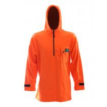 Ridgeline Mens Anorak Hoodie Blaze Orange