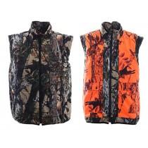 Ridgeline Trapper Reversible Hunting Vest Blaze/Buffalo Camo
