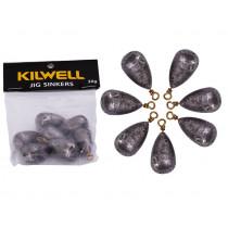Kilwell Tear Drop Swivel Sinkers Pack 1 1/16oz 30g Qty 7