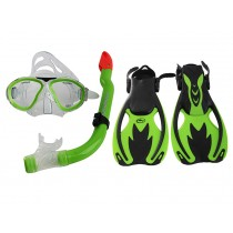 Hammerhead Nipper Kids Mask Snorkel Fins Set