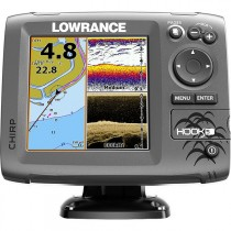Lowrance HOOK-5 CHIRP Fishfinder/Chartplotter Trailer Boat Package