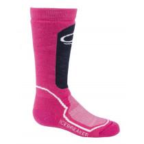 Icebreaker Kids Merino Snow Medium Over the Calf Socks Pop Pink/Admiral/Snow