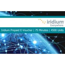 Iridium Pre-Paid E-Voucher 75 Minutes 4500 Units 30 Day Validity