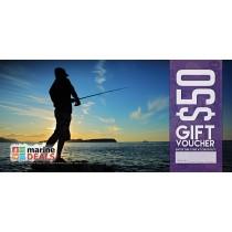 Marine Deals $50 Gift Voucher with Sleeve - Rock Fishing