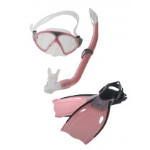 Mirage Squirt Junior Mask Snorkel and Fins Set Pink L