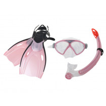 Mirage Comet Junior Mask Snorkel and Fins Set Pink L