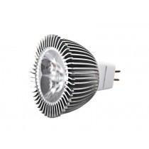 High Powered MR16 LED Bulb Daylight White 3 x 1W