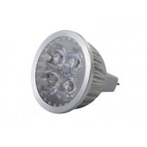 LED MR16 Bulb Aluminium Warm White 4 x 1W