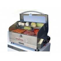 Galleymate 1100 Polished Gas Barbecue Grill with Hotplate