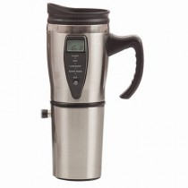 Stainless Steel Travel Mug with Built-in Heater