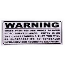 Surveillance Warning Sticker