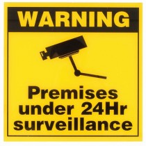 Surveillance Warning Sign 300 x 300mm