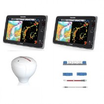 Raymarine e165 HybridTouch Dual Display Bundle with RS130 GPS Antenna and SeaTalk NG Starter Kit
