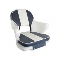 Upholstery for Cruiser Seat Navy/White