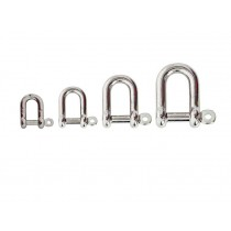 Stainless Steel D-Shackle Captive Pin