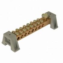 16-Way 100A Brass Distribution Bar