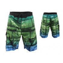 Shimano Collage Board Shorts Blue/Green
