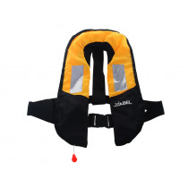 Manual Inflatable Fishing Lifejacket with Reflectors 150N Adult Yellow/Black